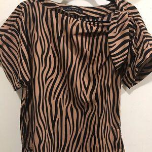 Zara zebra blouse
